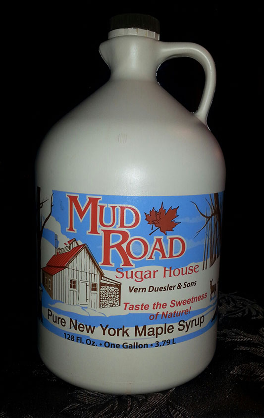 jug of pure maple syrup